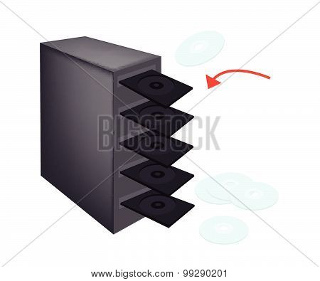 Cd Or Dvd Duplicator On Isolated White