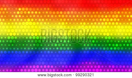 Lgbt Flag With Bright Dots Effect