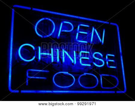 Neon Open Sign for Chinese Restaurant