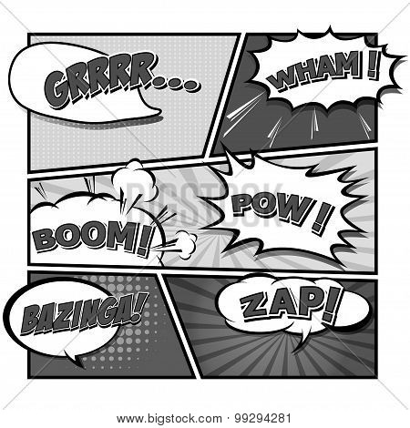 Comic Template Vector.