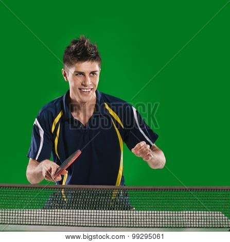 man table tennis player