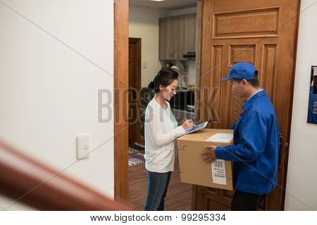 Signing delivery document