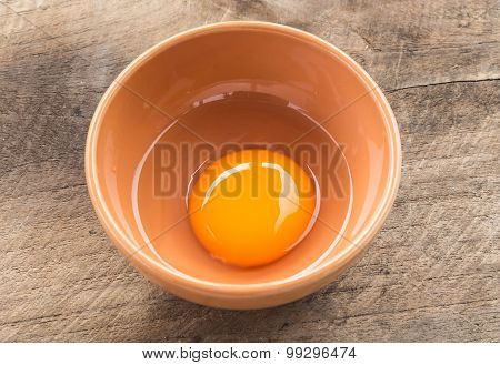 Nutrient Egg In A Ceramic Bolw