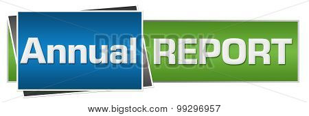 Annual Report Green Blue Horizontal