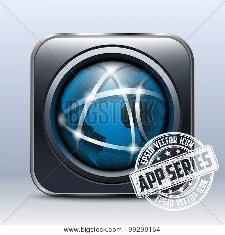 Global Communication Icon. App Series