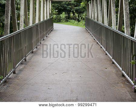 Walkway In The Bridge