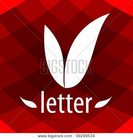 Abstract Logo V Letter In The Form Of Petals