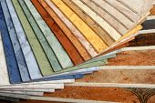 picture of linoleum  - The samples of collection a natural linoleum - JPG