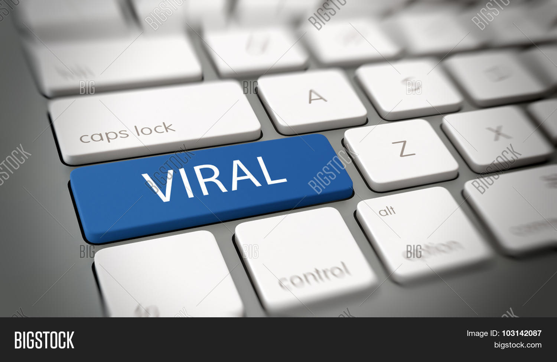 Viral online marketing, brand awareness or meme concept ...