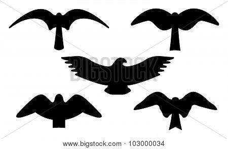 Birds Silhouettes. Vector EPS 10.