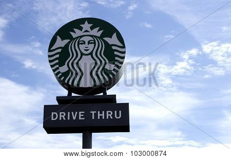 Starbucks Drive Thru Sign
