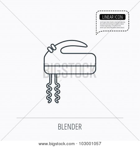 Blender icon. Mixer sign.