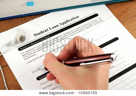 Student Loan Application Signing