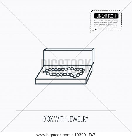 Jewellery box icon. Luxury precious sign.