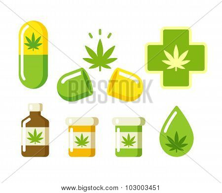 Medical Marijuana Icons