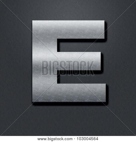 Letter Shabby Metal Chromium - E