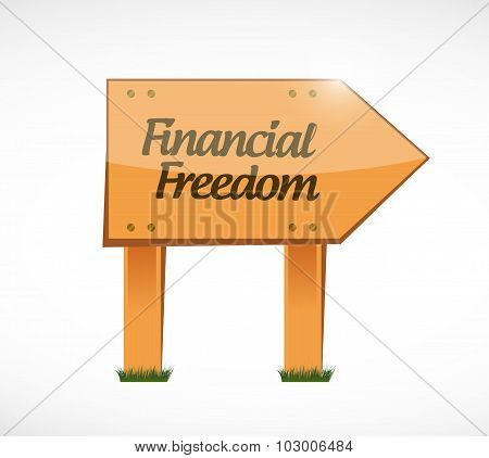 Financial Freedom Wood Sign Concept