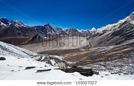 Mountain Landscape In Sagarmatha, Nepal