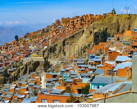Houses of La Paz in Bolivia