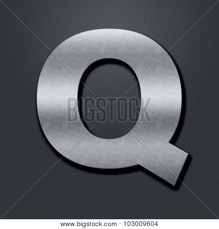 Letter Shabby Metal Chromium - Q