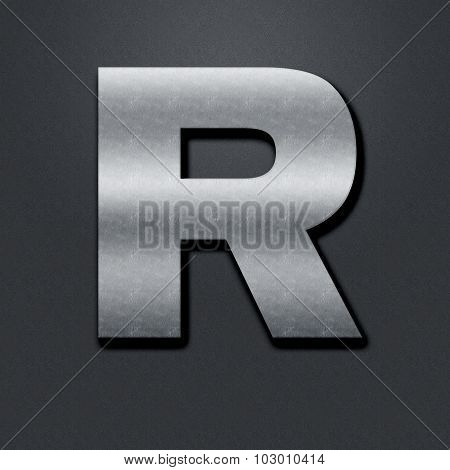 Letter Shabby Metal Chromium - R