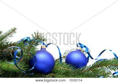 Blue Christmas Bulb