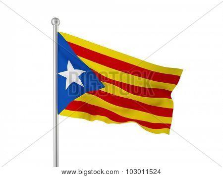 Catalan separatist flag 3d image