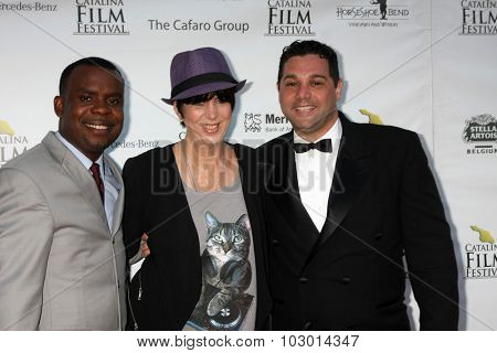 LOS ANGELES - SEP 26:  Delious Kennedy, Diane Warren, Ron Truppa at the Catalina Film Festival Saturday Gala at the Avalon Theater on September 26, 2015 in Avalon, CA
