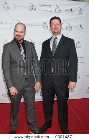 LOS ANGELES - SEP 26:  Brian Ott, Kyle Dare at the Catalina Film Festival Saturday Gala at the Avalon Theater on September 26, 2015 in Avalon, CA
