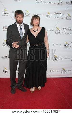 LOS ANGELES - SEP 26:  Chris Riddle, Ashley Brim at the Catalina Film Festival Saturday Gala at the Avalon Theater on September 26, 2015 in Avalon, CA