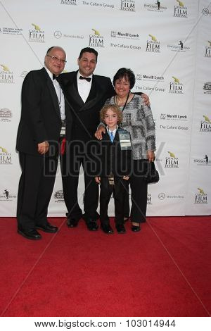 LOS ANGELES - SEP 26:  Ron Truppa Family at the Catalina Film Festival Saturday Gala at the Avalon Theater on September 26, 2015 in Avalon, CA