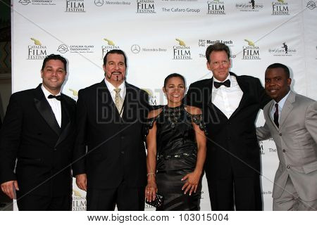 LOS ANGELES - SEP 26:  Ron Truppa, VIPs, Delious Kennedy at the Catalina Film Festival Saturday Gala at the Avalon Theater on September 26, 2015 in Avalon, CA