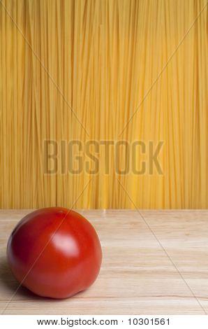 Tomato In The Front Of Spaghetti