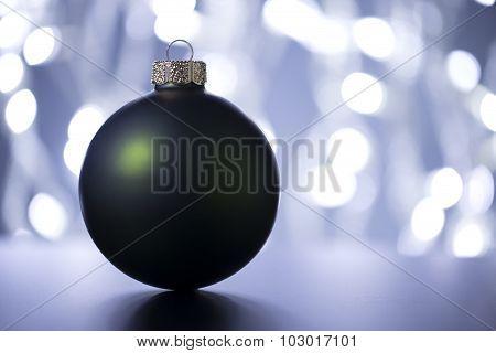 Christmas ball with Christmas lighting