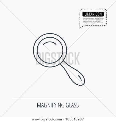 Search icon. Magnifying glass sign.