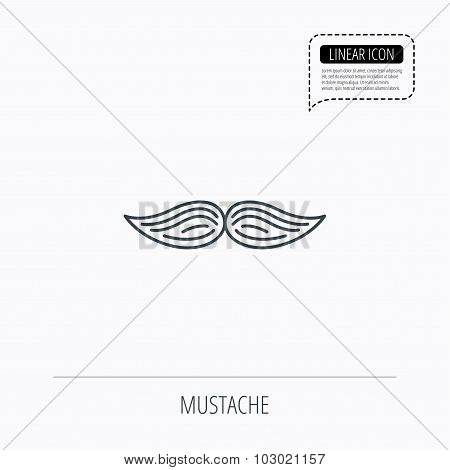 Mustache icon. Hipster symbol. Gentleman sign.