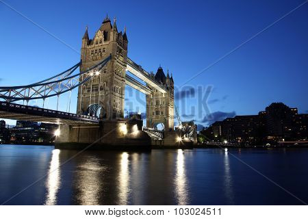 Evening Tower Bridge, London, Uk