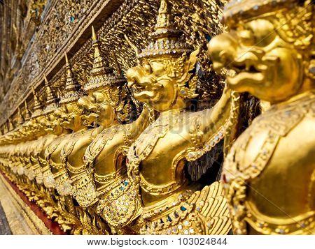 Garuda Statues At Wat Phra Kaew, Grand Palace, Bangkok, Thailand