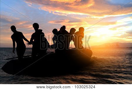 boat with migrants