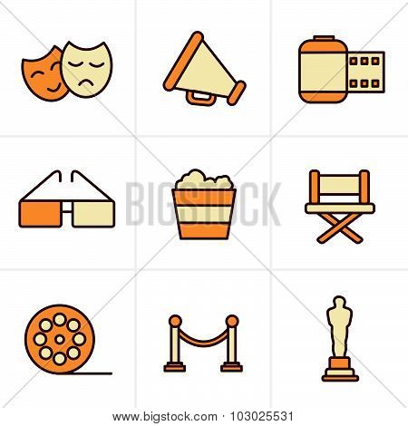 Icons Style Movie Icons Vector Design