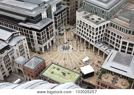 London With Paternoster Square From St Paul's Cathedral, Uk