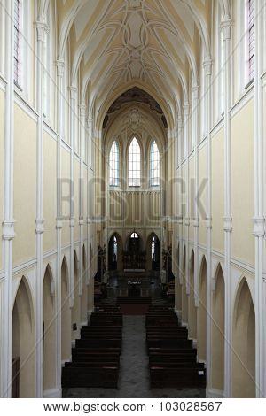 Cathedral of the Assumption of Our Lady in Sedlec near Kutna Hora, Czech Republic.