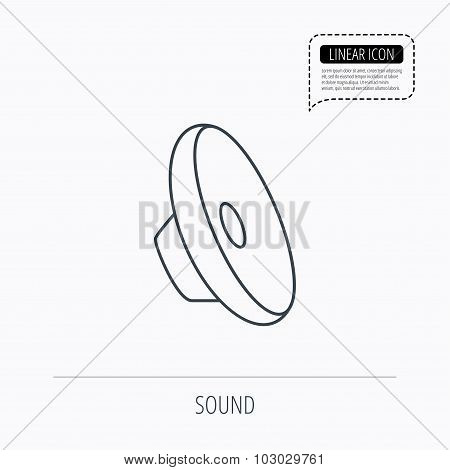 Sound icon. Audio speaker sign.