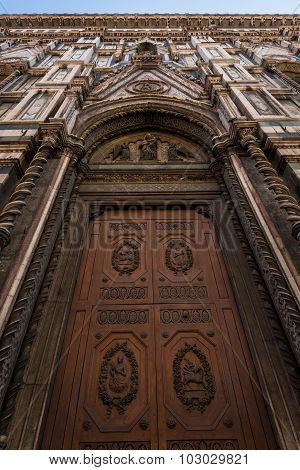 Door At Florence Cathedral