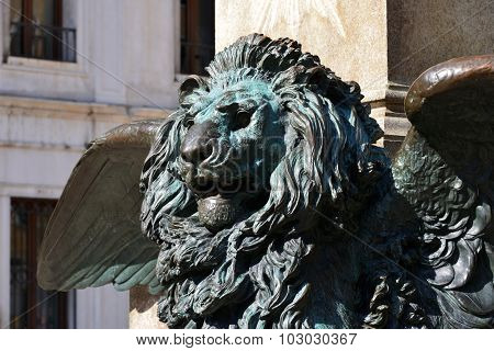 Winged lion symbol of the Republic of Venice