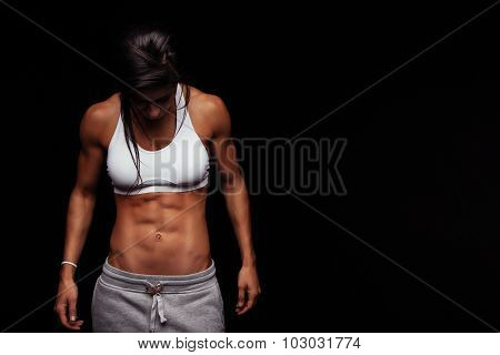 Young Female With Perfect Muscular Body
