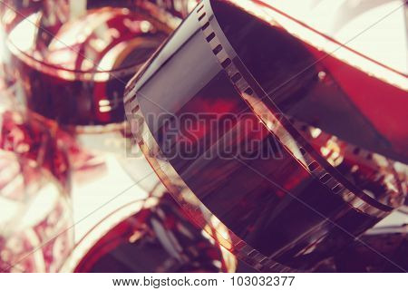 Photography Film Strip Closeup Vintage Background
