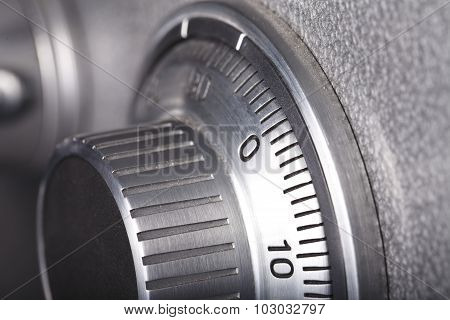 combination lock close-up