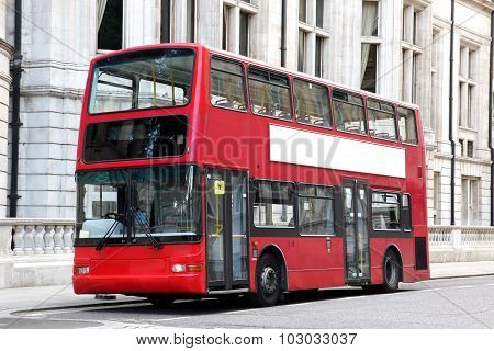 Traditional London Double Decker Red Bus