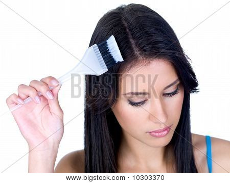 Coloring Woman's Hair